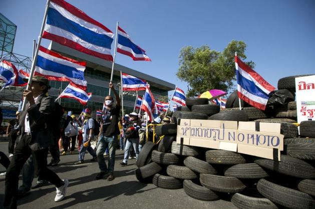 Göstericiler başkenti adeta kuşattı
