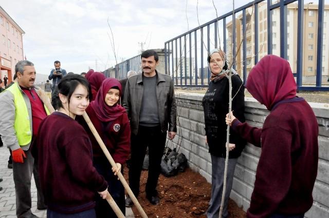 """""""Her Okulun Bir Dikili Ağacı Olsun"""" kampanyası"""