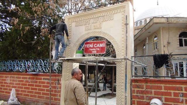 Kızıltepe Yeni Camisi'nin kapıları, mimarisine uygun yapıldı