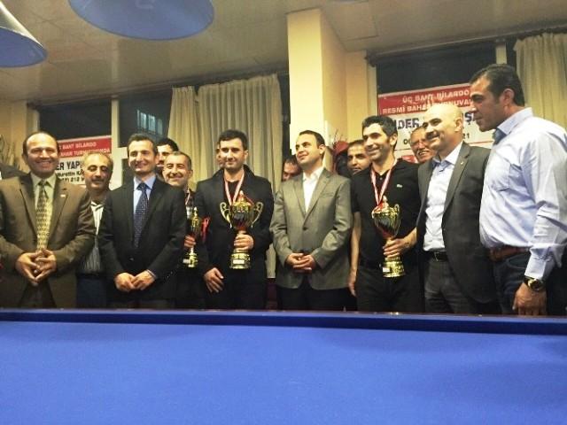 """Kızıltepe'de """"3 Top, 3 Band"""" bilardo turnuvası"""