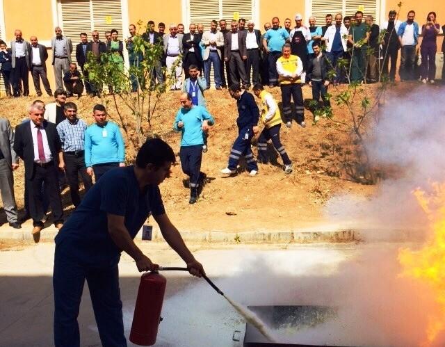 Kızıltepe'de yangın tatbikatı
