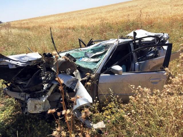 Nusaybin'deki trafik kazasında komiser ağır yaralandı