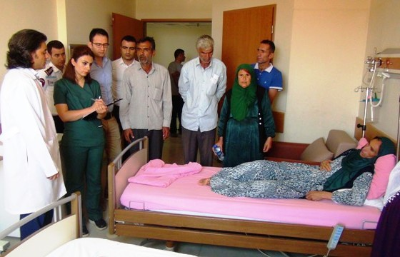 Ayhan ailesi hastaneye getirildi