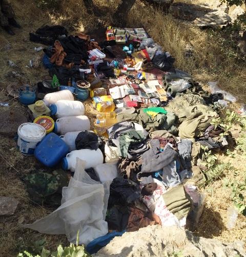 PKK'nın 4 sığınağı bulundu