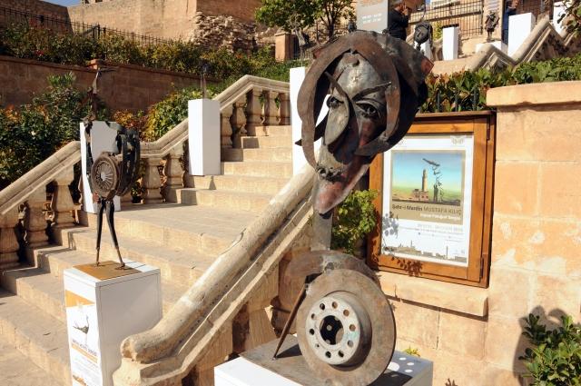 Metal heykeller Mardin Müzesi'nde sergilendi