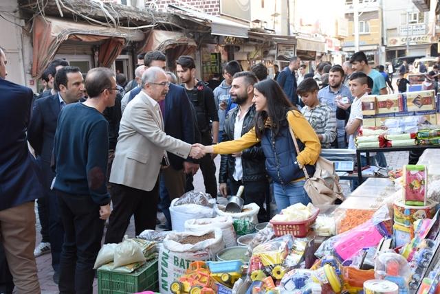 Vali Yaman, Nusaybin esnafını ziyaret etti