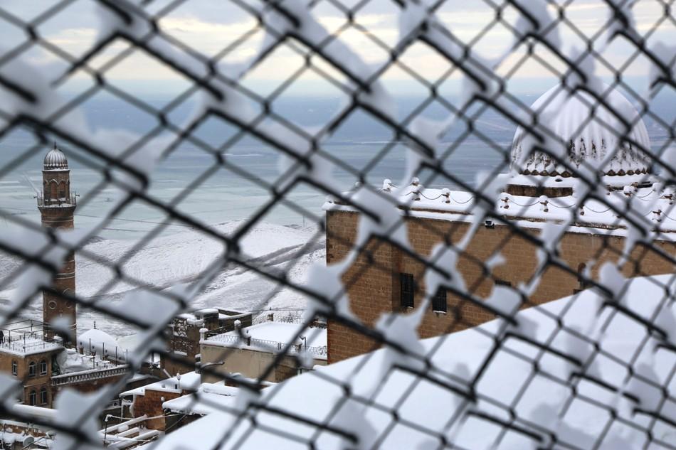 Kar Mardin'e çok yakışıyor
