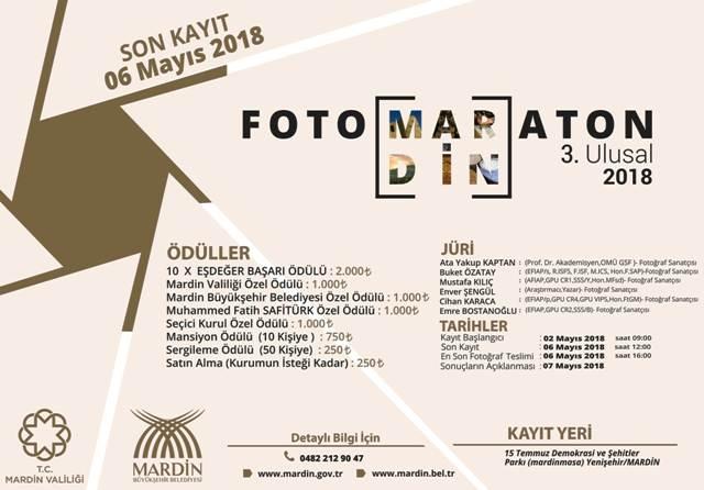 Mardin 3.Ulusal Foto Maraton Yarışması Başlıyor
