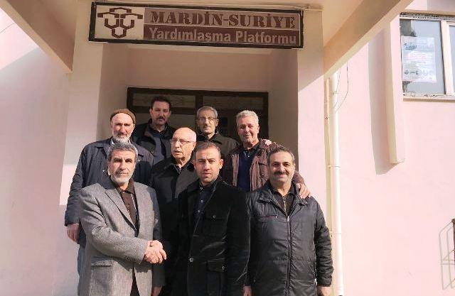 Mardin Suriye Yardımlaşma Platformunda Nöbet Değişimi