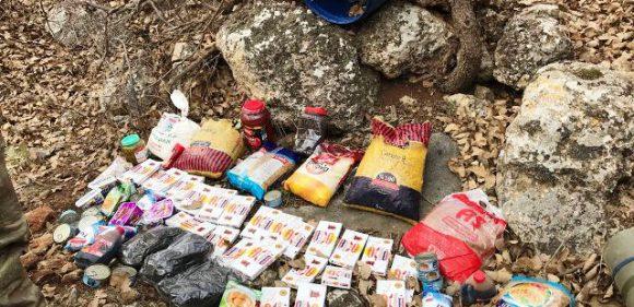 Teröristlere ait gıda maddeleri ele geçirildi