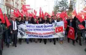 Zeytin Dalı Harekatına ilçelerden destek yürüyüşü