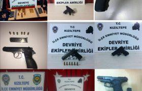 Kızıltepe'de 9 tabanca ele geçirildi