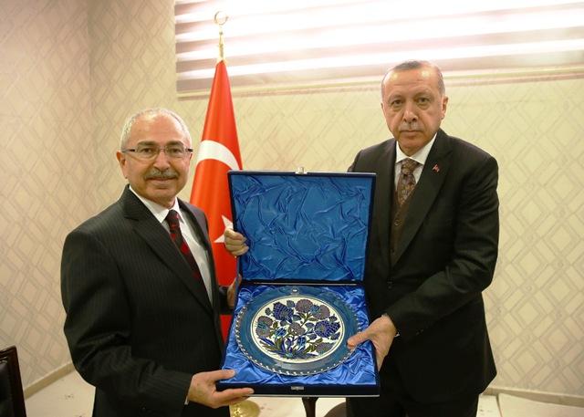 Erdoğan, Vali Yaman'ı kabul etti