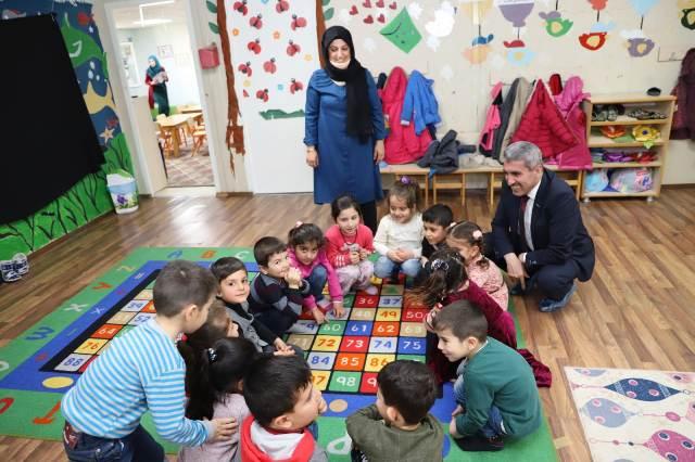 Milli Eğitim Müdürü Sarı'dan  kırsaldaki okullara ziyaret