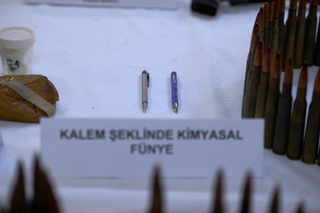 Kalem şeklinde  8 kimyasal fünye  ele geçirildi