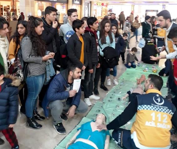 Mardin'de 112 Acil Sağlık Hizmetleri Haftası etkinliği