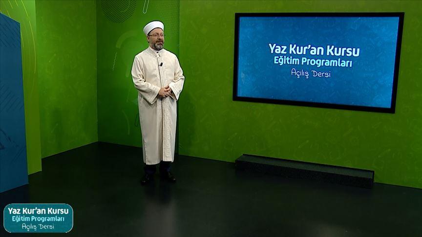 Diyanet'in uzaktan eğitimle 'Yaz Kur'an Kursları' 6 hafta sürecek