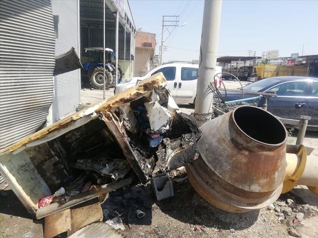 LPG tankının patlaması sonucu 1 kişi yaralandı