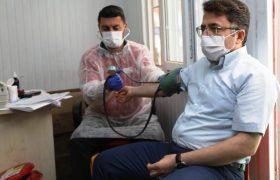 Kaymakam Çam, Emir için kan bağışında bulundu