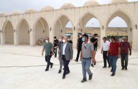 Vali Demirtaş, Zeynel Abidin Erdem cami inşaatını inceledi