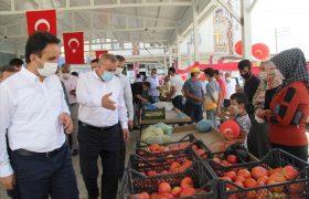 Midyat'ta köy ürünleri pazarı açıldı