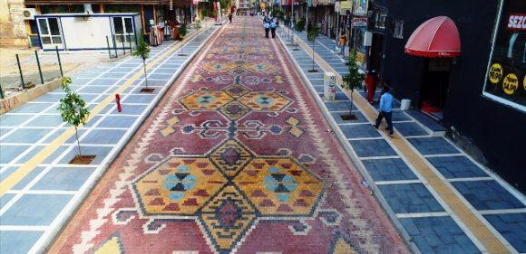 Kızıltepe'de Kilise Caddesinde düzenleme çalışması