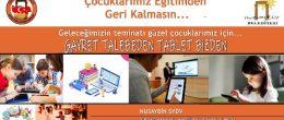 Nusaybin'de dar gelirli öğrenciler için tablet kampanyası