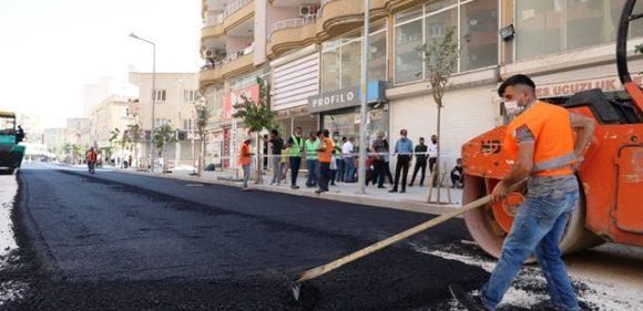Şahkulubey Caddesinde asfalt dökümü başladı